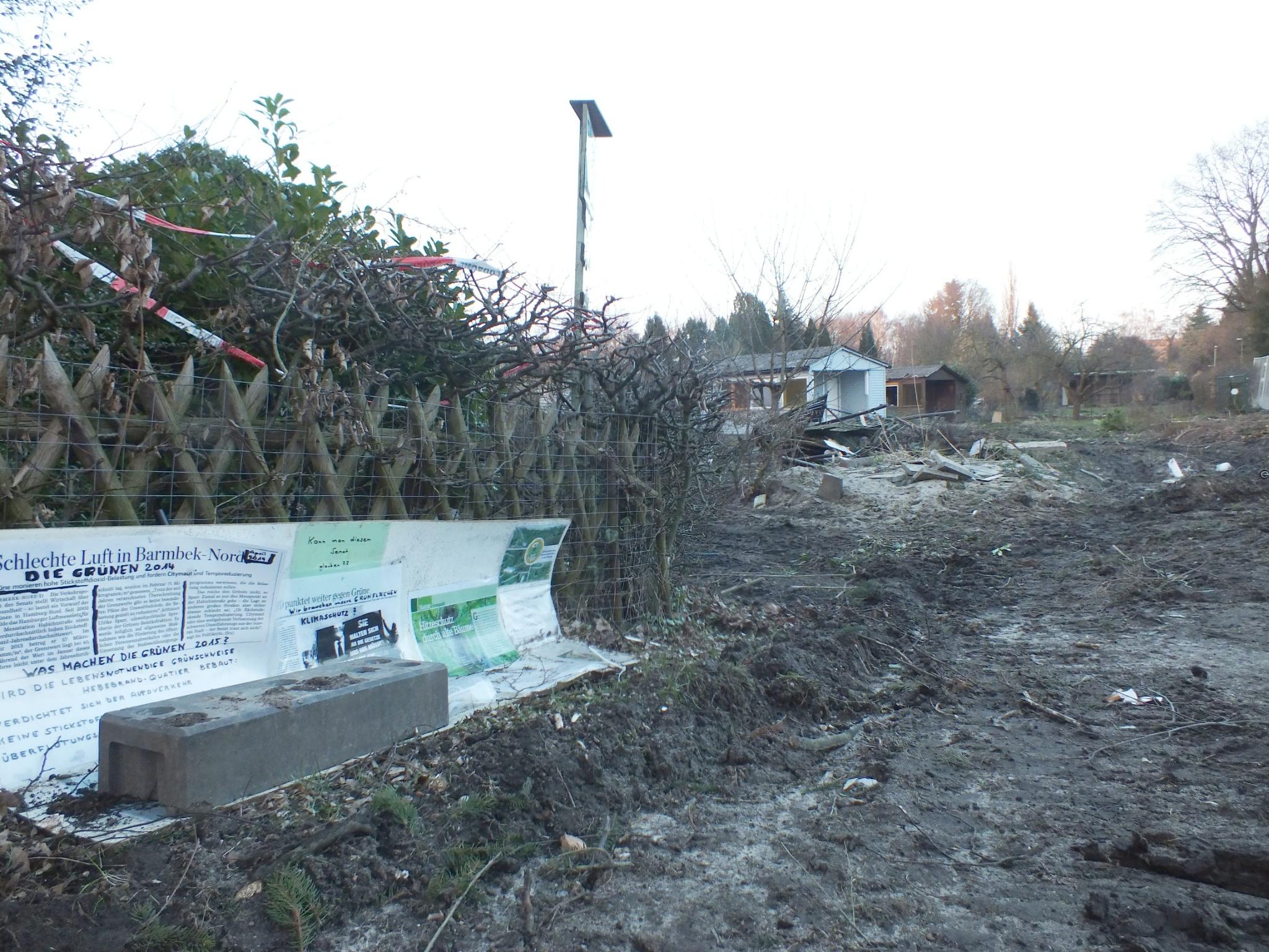 Februar 2016 Pergolenviertel Schlechte Luft, zerstörte Gärten
